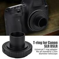 T- Ring for Canon EOS Camera Lens Adapter + 1.25inch Telescope Mount Adapter