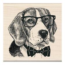 INKADINKADO RUBBER STAMPS NERDY DOG NEW wood STAMP