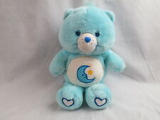 GLOW-IN-THE-DARK CARE BEAR BEDTIME MOON BABY BOY BLUE PLUSH STUFFED ANIMAL TOY
