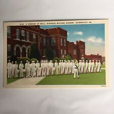 A Company at Drill Riverside Military Academy Gainesville Georgia Postcard