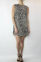 FINDERS KEEPERS Blue Leopard Print Shift Dress Size XS