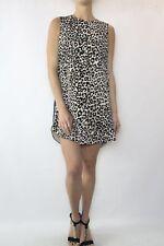 FINDERS KEEPERS Blue Leopard Print Shift Dress Size XS