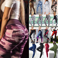 Women High Waist Sports Yoga Pants Floral Leggings Fitness Workout Gym Trousers