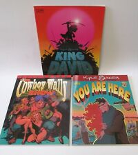 KYLE BAKER Graphic Novels -King David -You Are Here -The Cowboy Wally Show 3 PBs