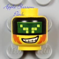 NEW Lego Ultra Agents MINIFIG HEAD w/Terabyte Grin Smile Digital Lime Green Eyes