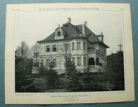 AuK3) Architektur Berlin Grunewald 1903 Bismarckallee 42 A. Scherl Haus 26x34cm