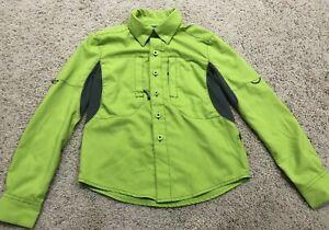 Magellan Outdoors Youth Boys Size XS Vented Fish Gear Green Shirt MagWick