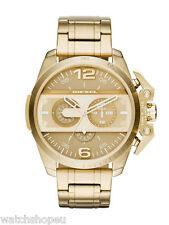 Reloj Cronógrafo nuevo DIESEL DZ4377 Para Hombre Ironside Oro - 2 Año De Garantía