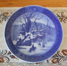 "Royal Copenhagen of Denmark 1967 Christmas Plate Kongeegen ""The Royal Oak"""
