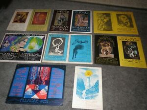 Bill Graham Concert Post Card Collection from 1970 All Original Santana Traffic