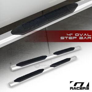 """For 2002-2006 Honda Crv Cr-V 4"""" Oval Ss Chrome Side Step Nerf Bars Running Board"""