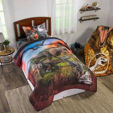 Jurassic World Kids Bedding, Bed in a Bag Set, Twin, Eruption
