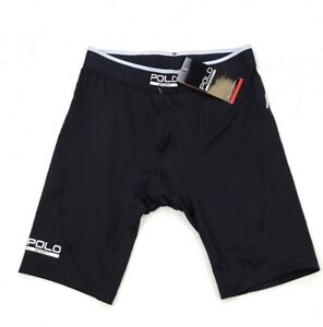 NEW POLO SPORT RALPH LAUREN BLACK COMPRESSION SHORTS SIZE S