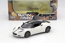 MOTORMAX SATIN PAINT LOTUS EVORA S WHITE 1/24 DIECAST CAR MODEL 79505