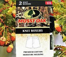Mossy Oak Men's 2-Pack Knit Boxers- Rust/Camo Print- Nwt Sz Small