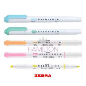 ZEBRA Mildliner Highlighter Pen - Soft Pastel Double-Ended Highlighter Pens!