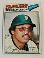 1977 Reggie Jackson # 10 New York Yankees Topps Baseball Card NY HOF