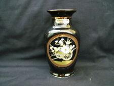 Vase Black Decorative Oriental Porcelain & China