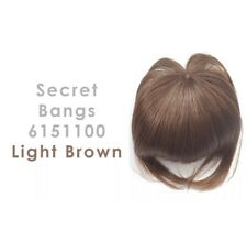 Brand New! Daisy fuentes Secret Extensions Style Clip In Bangs Light Brown