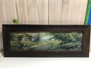 Vintage picture wooden frame