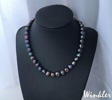 schwarze Halskette mit echten Perlen wie Tahiti|Barock Perlenkette**Muttertag