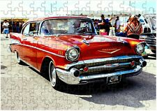 Chevrolet Bel Air 3 V8 A4 JIGSAW Puzzle Birthday Christmas (Can Be Personalised)