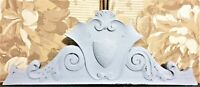 Shell scroll leaves wood carving pediment Antique french architectural salvage