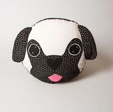 Sass & Belle Applique Dog Cushion - Pablo The Pug With Inner - Dog