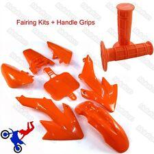 Orange Plastic Fender Kit+Handle Grips For Honda XR50 CRF50 Pit Dirt Motor Bike