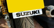 SUZUKI BANDIT 400 NUMBER PLATE EMBLEM BADGE MIRROR POLISHED STAINLESS STEEL