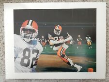 OZZIE NEWSOME LITHOGRAPH DANNY DAY  CLEVELAND BROWNS