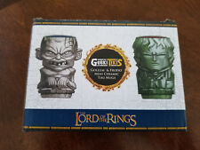 Lord of the Rings Geeki Tikis 2 Pk Gollum & Frodo Geek Fuel Exp Ceramic Mugs New