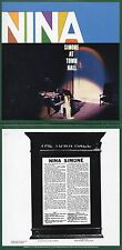 CD Nina Simone At Town Hall | Mini LP REPLICA | 10-TRACK CARD SLEEVE	CD