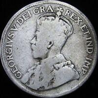 1917 VG Canada Silver 25 Cents - KM# 24 - JG