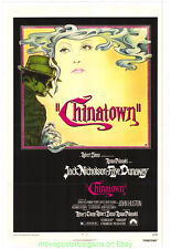 Chinatown Movie Poster 11x17 Inch Repro With Plastic Holder Jack Nicholson