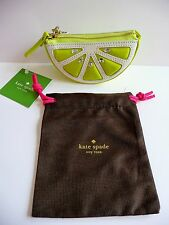 Kate Spade NY NWT Breath of Fresh Air Lime Slice Leather Coin Purse Retail $88