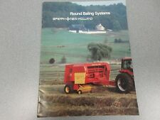 New Holland Round Baling Systems Sales Brochure 20 Pages