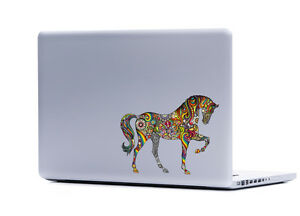 Ornate Horse sticker decal laptop automotive netbook horses window stickers
