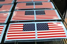 """AMERICAN FLAG DECAL SET, 2 opposing 5""""x 7.5"""" Am. Flag screen printed decals"""