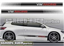 VW Volkswagen Scirocco Racing Rayas 009 Pegatinas Calcomanías Gráficos