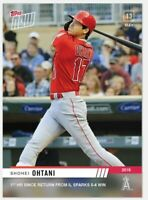 Shohei Ohtani 2019 Topps NOW 223 Los Angeles Angels 1st HR since return from IL