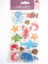 STICKO STICKERS - SEA LIFE FUN shark octopus star fish AQUARIUM