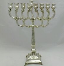 NEW Solid Silver Sterling 925 Tall Menorah Chanukah Hanukkah chanukiah Judaica