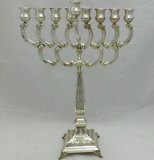 NEW IN ARGENTO MASSICCIO STERLING 925 ALTEZZA Menorah Chanukah Hanukkah