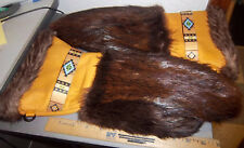 Beaver Fur Mittens Hand made in Alaska Size Large, excellent craftsmanship, tan