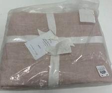 Pottery Barn Belgian Flax Linen Diamond Sham Pink Standard 26x20 NEW