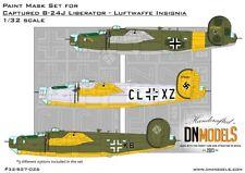 Captured B-24 Liberators Luftwaffe Insignia Paint Mask Set 1/32 HB #83211 DN Mod
