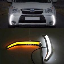 Switchback Bumper LED Daytime Running Light DRL Kit For 13-15 Subaru Forester XT