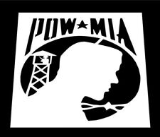 "POW / MIA * PRISONER OF WAR / MISSING IN ACTION REUSABLE STENCIL * 6"" x 6"""