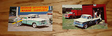 Original 1960 Dodge Sweptline & D-500 Stake Truck Postcard Lot of 2 60